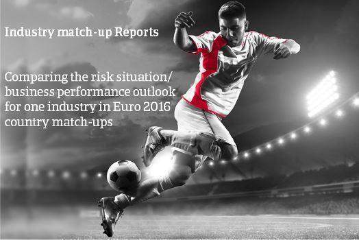Comparing the risk situation and business performance outlook for one industry in Euro 2016 country match-ups.